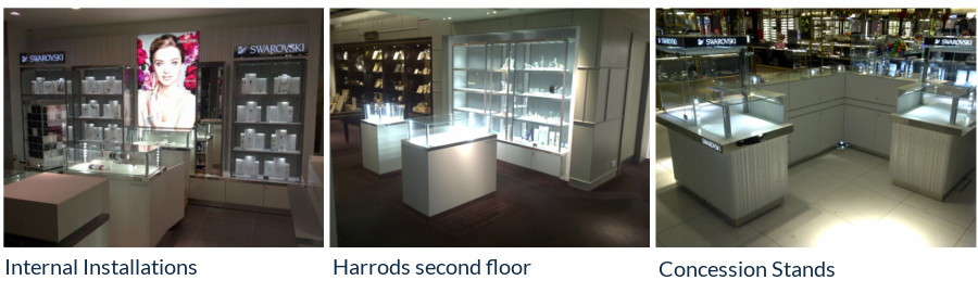 Retail Furniture and Architecture Internal Installation Warwickshire